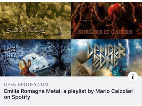 MARY BRAIN featured in Emilia Romagna Metal playlist on Spotify