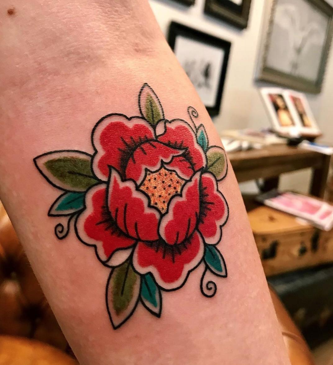 Trad Rose tattoo