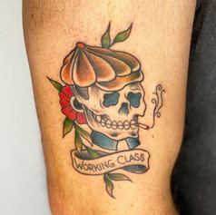 Tom McMahon Tattoo Traditional Skull Gold Coast Tattoo B