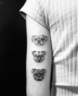 Fine line, coco, absolute tattoo, mini portrait