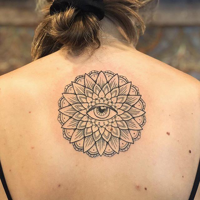 Mandala line work Tattoo Jasmine Gold Coast Tattooist Absolute Tattoo