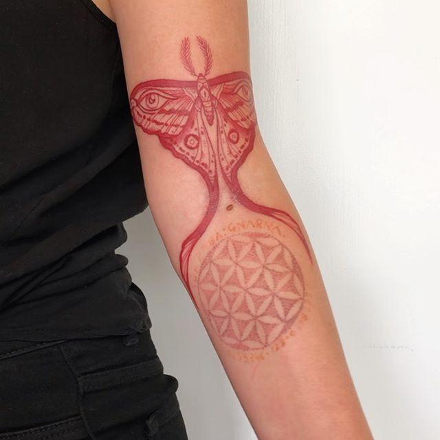 Mandala  Butterfly Pattern Fine Line Tattooist Jasmine Gold Coast Tattooist Absolute Tattoo
