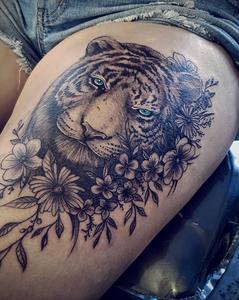 Tiger face tattoo zaine absolute tattoo