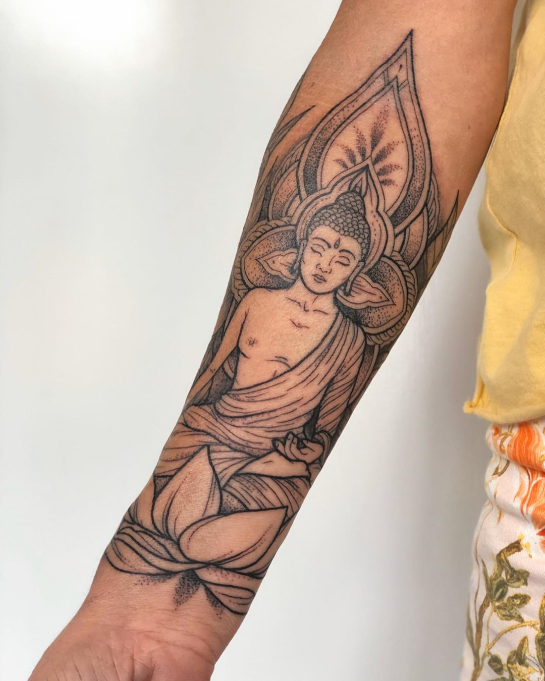 Mandala Buddhist Pattern Fine Line Tattooist Jasmine Gold Coast Tattooist Absolute Tattoo