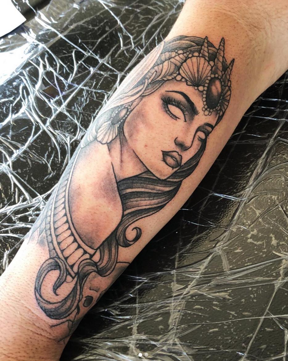 Egyptian Girl tattoo