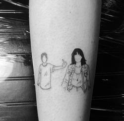 fine line portait tattoo coco loberg
