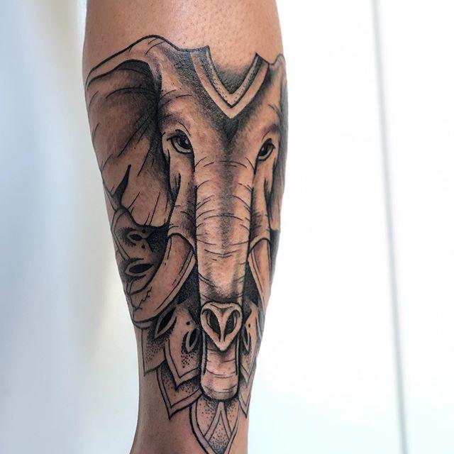 Elephant  Tattoo Jasmine Gold Coast Tattooist Absolute Tattoo
