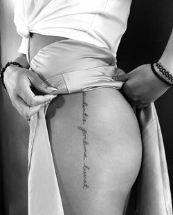 Fine Line Script Tattoo Coco Loberg