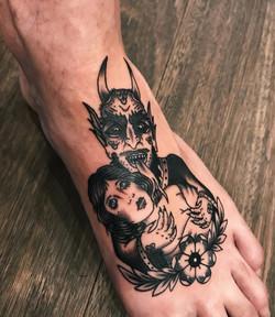 Trad Devil tattoo