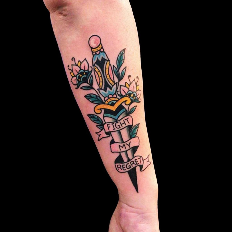 Trad Dagger tattoo