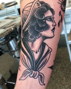 Traditional Lady cameron absolute tattoo