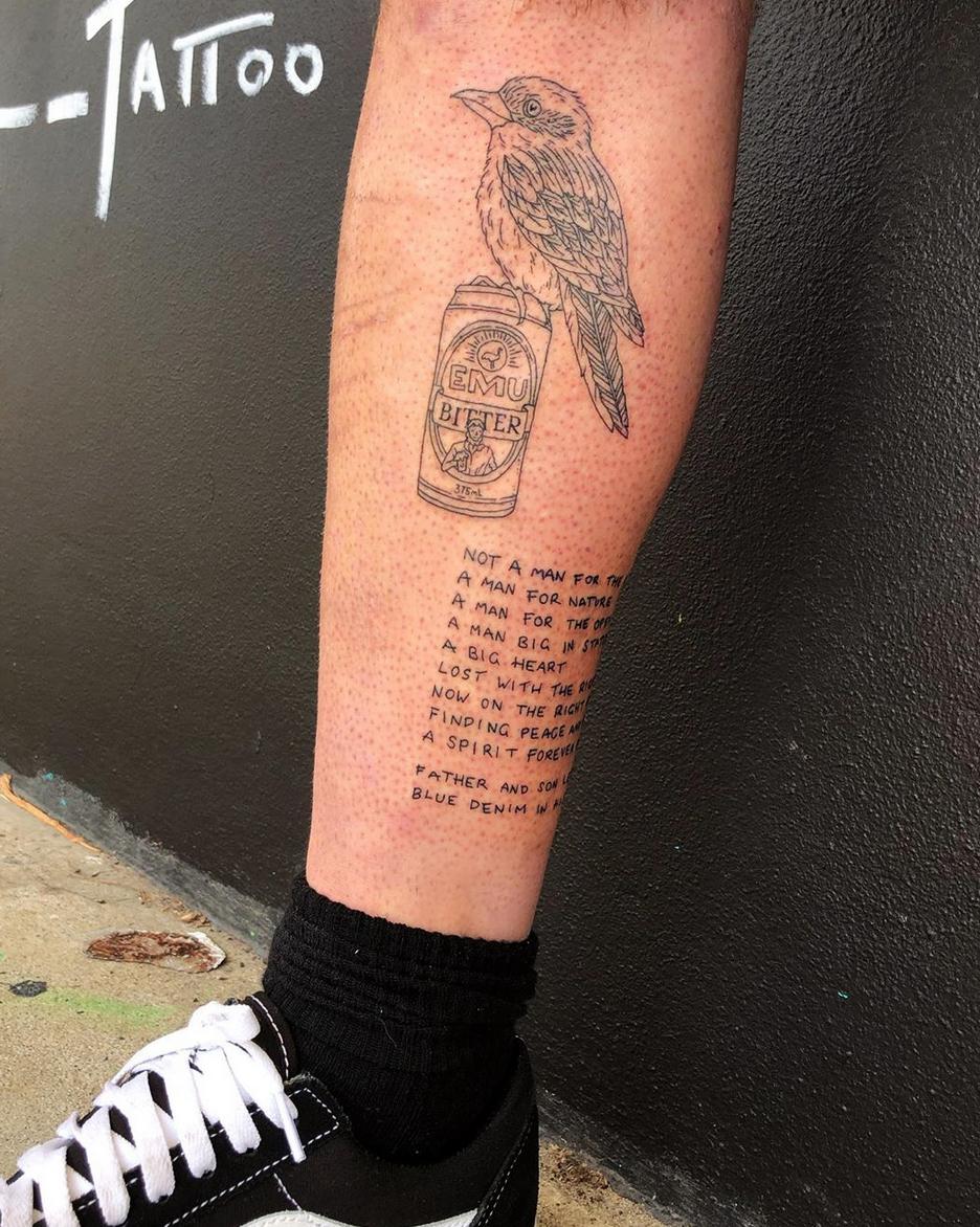 Kookaburra tattoo