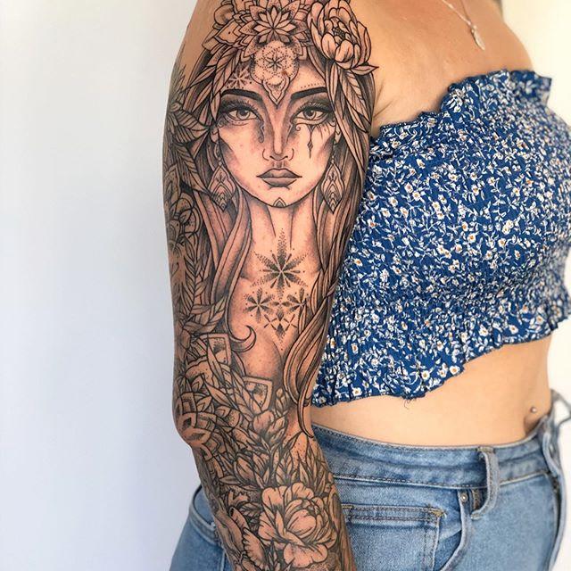 Dotwork Pattern Fine Line Tattooist Jasmine Gold Coast Tattooist Absolute Tattoo