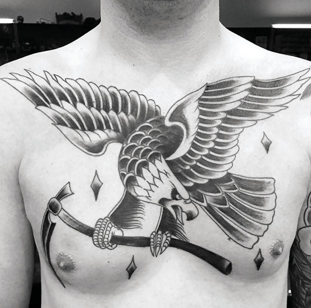 Trad Eagle cameron absolute tattoo