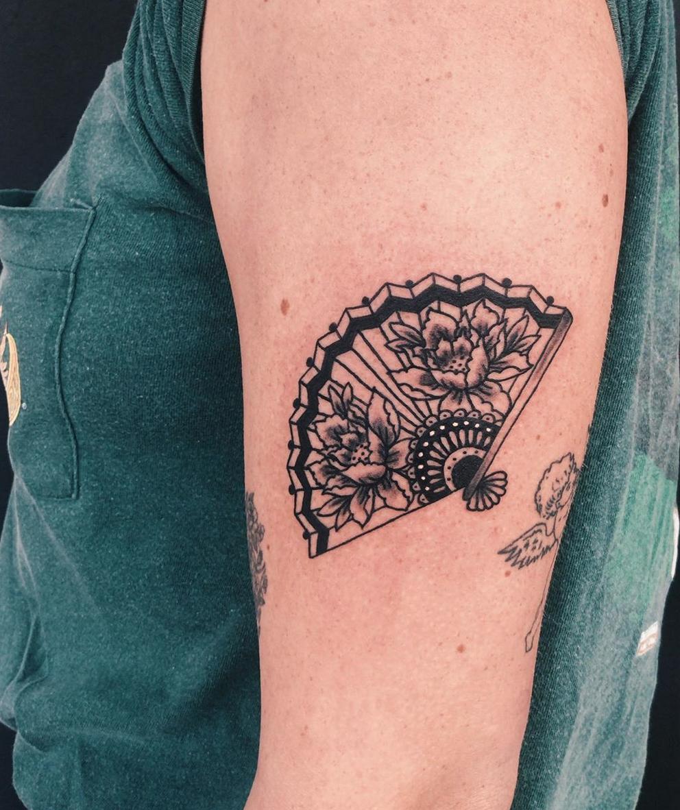 Oriental Fan tattoo