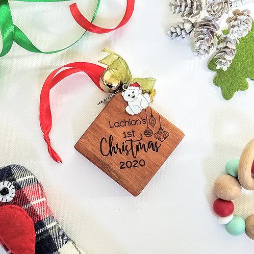 1st Christmas Keepsake Tree Decorations