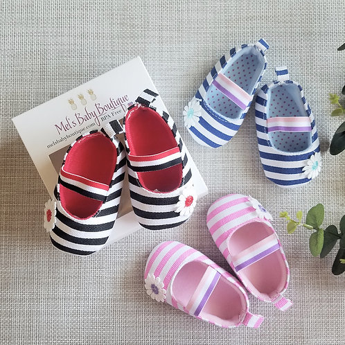 Striped Ballet Flats