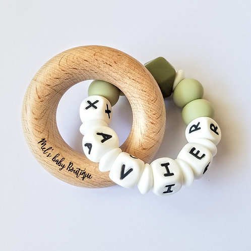 Chunky Personalised Beech Ring