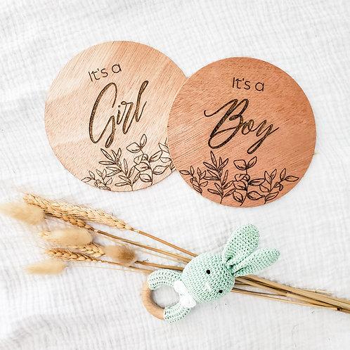 Timber 'It's a Boy/Girl' Disc