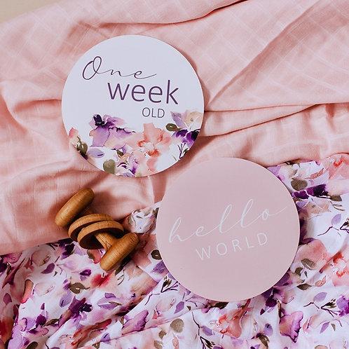 Blushing Beauty & Musk Pink Milestone Cards