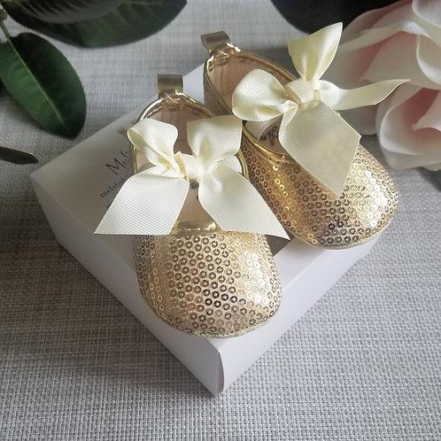 Gold Princess Shoes