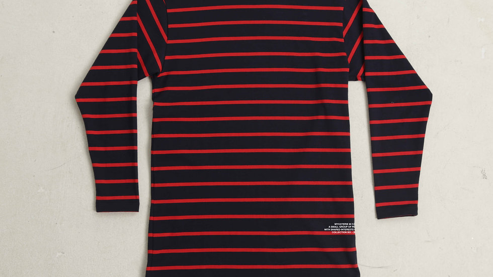 MYCOTERIE M.Y.C -  RED & NAVY STRIPE LONG SLEEVE