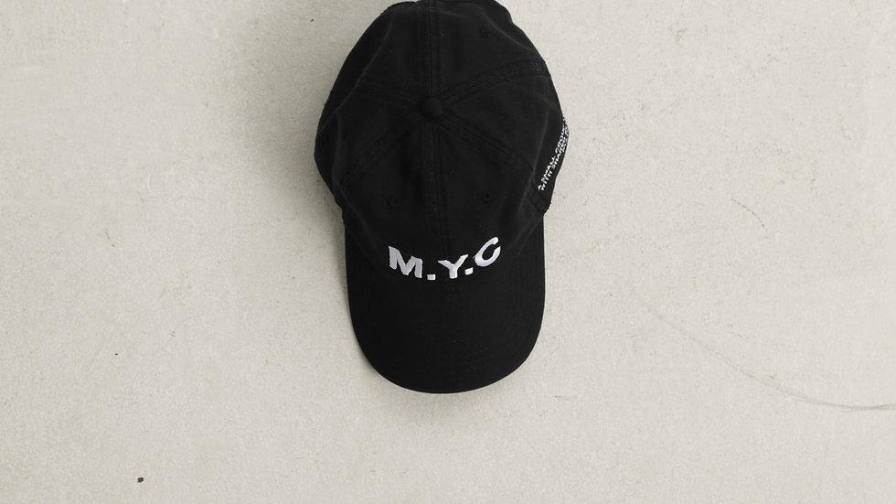 MYCOTERIE M.Y.C PREMIUM COTTON TWILL CAP - BLK