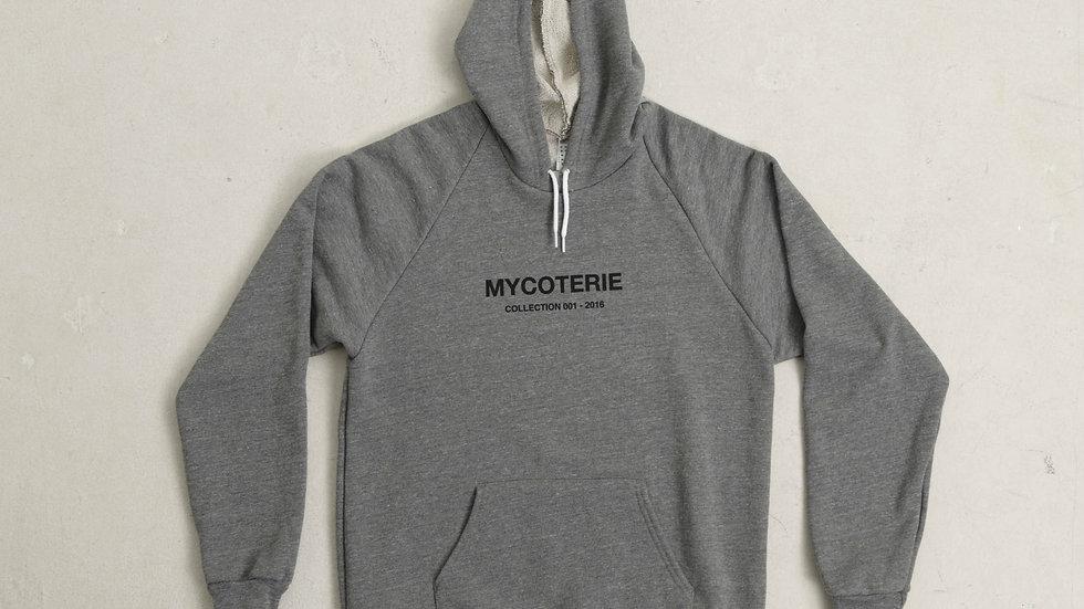 MYCOTERIE M.Y.C - GREY  FLAGSHIP - 001 HOODIE