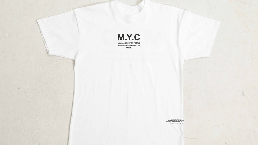 MYCOTERIE M.Y.C BASIC STAMP TSHIRT - WHT