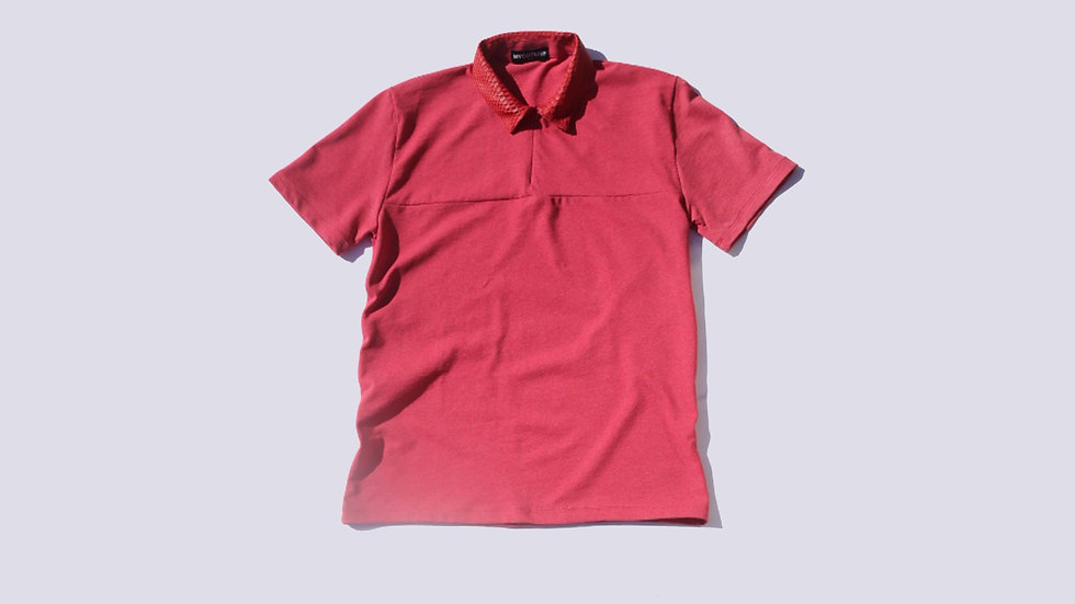 MYCOTERIE - PYTHON COLLAR POLO - SUNSET