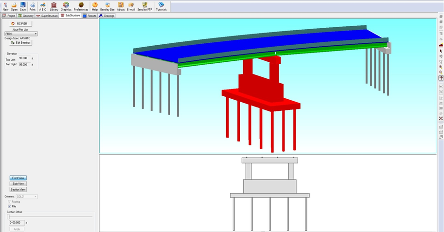 Design and analyze superstructures and s