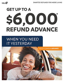TPG Fast Cash Advance flyer download and
