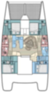 Leopard 47' catamaran layout