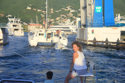 Bridge crossing St. Maarten Caribbean Nov 30 2016