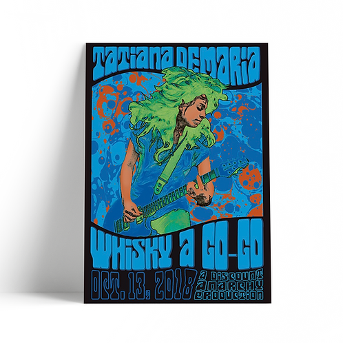 Blue Whisky A GoGo Concert Poster - Limited Edition