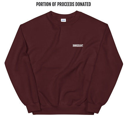 Maroon IMMIGRANT Sweatshirt