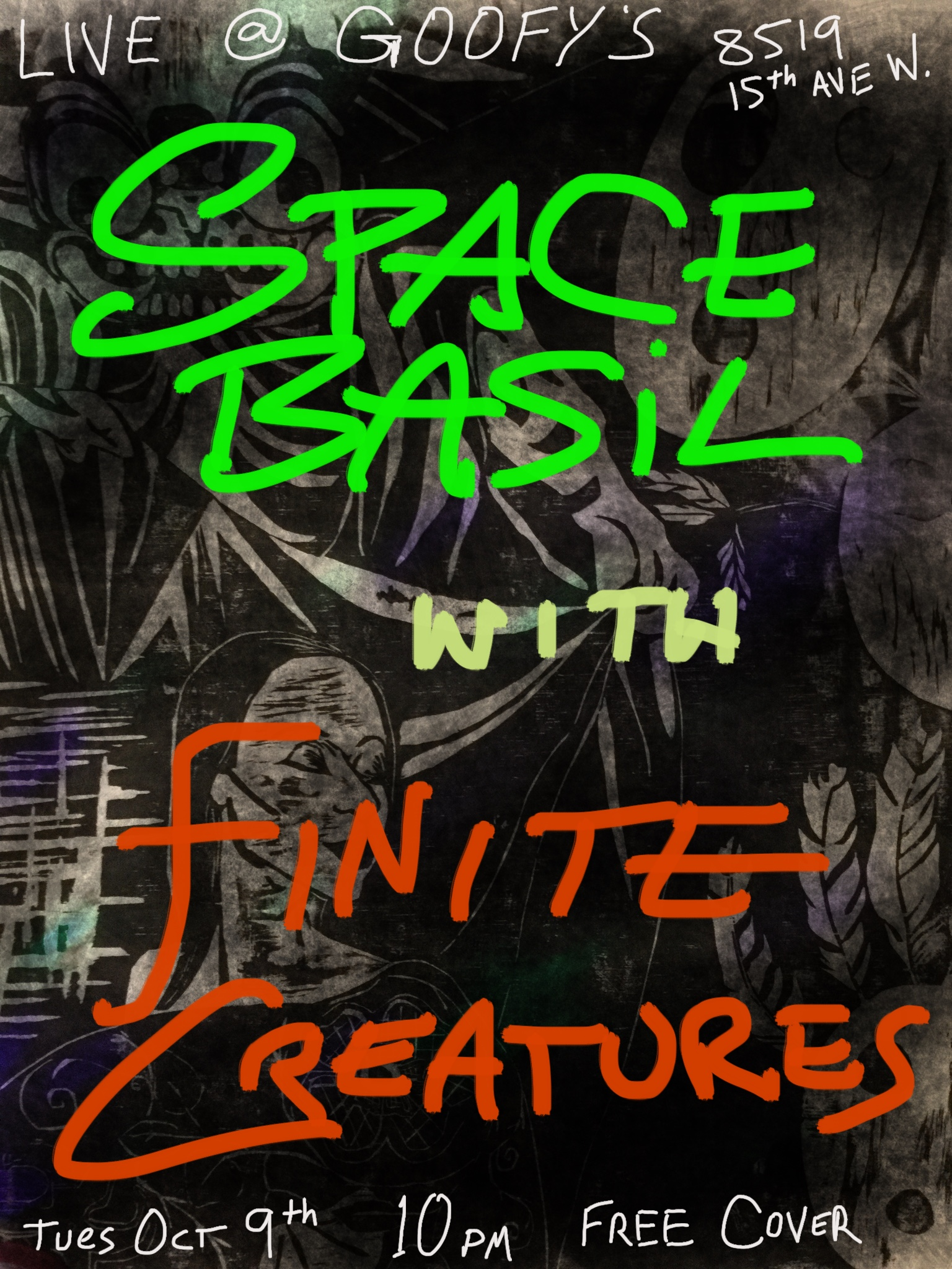 finite creatures concert poster