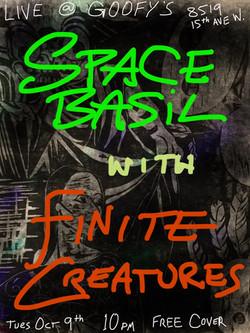 finite creatures concert poster