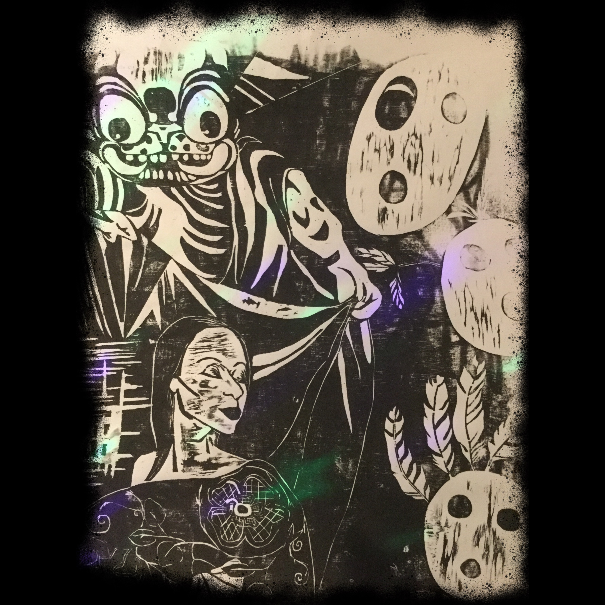 haunted tribal album art