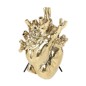 Seletti-Love-In-Bloom-Heart-Vase-Gold-by