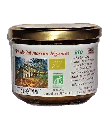 Pâté végétal marron    4,20€