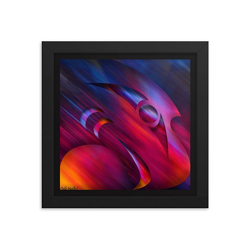 Salish Eagle Framed Print (Variant 02)