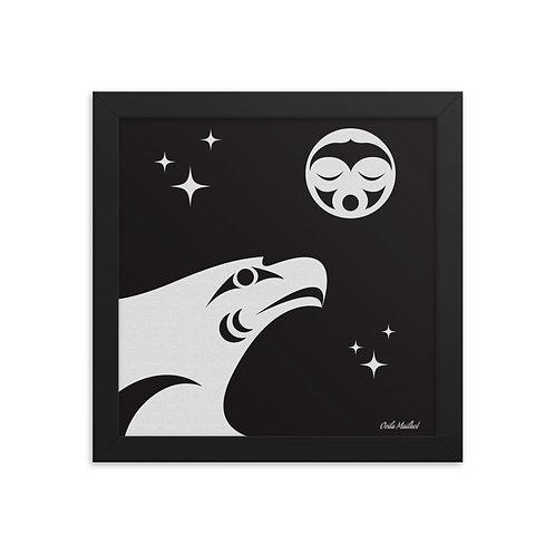 Night Flight (10x10 Framed)