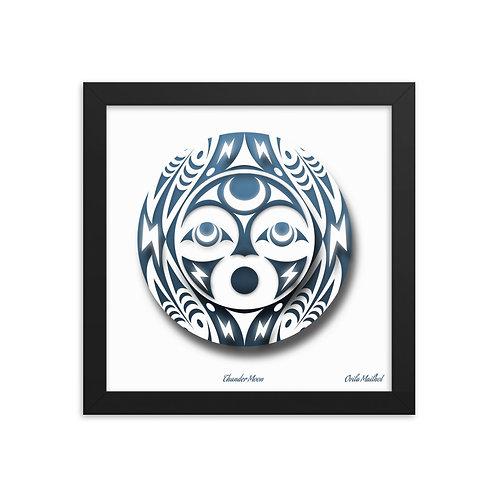 Salish Thunder Moon (Framed Print)