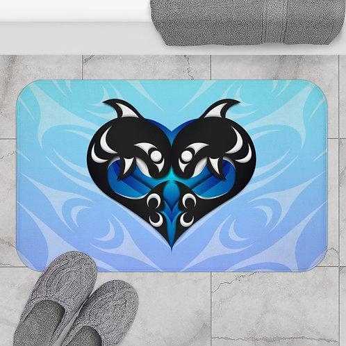 Salish Orca Heart Bath Mat
