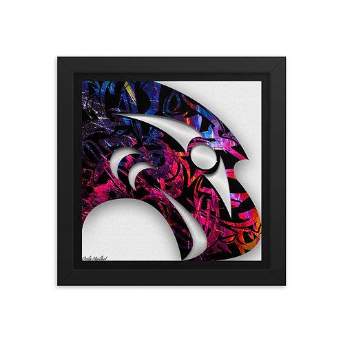 Salish Eagle Framed Print (Variant 03)