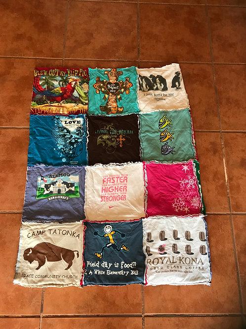 T-Shirt Quilt (Small: 12 Shirts)