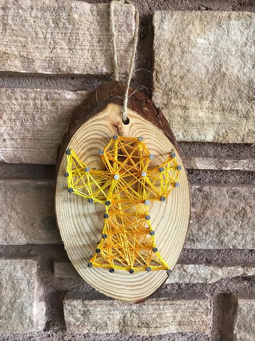 Angel String Art Ornament