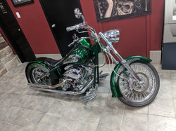 Fabien's Harley on Display