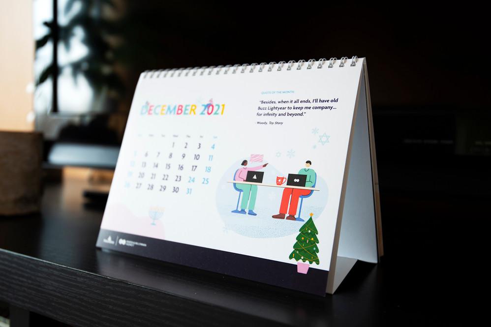 2021 Table Calendar